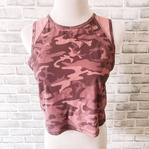 Lululemon | purple camo crop athletic top